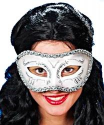 Венецианская серебряная маска