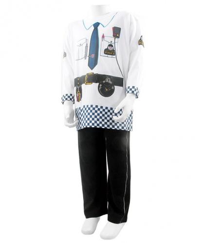 Детский костюм полицейского: футболка, штаны (Англия)