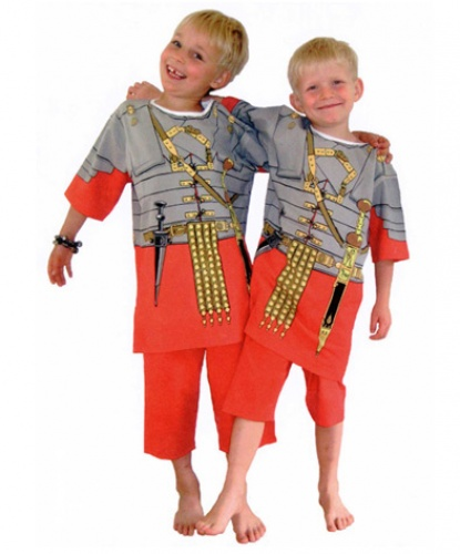 Костюм Римского центуриона: Шорты, футболка (Великобритания)