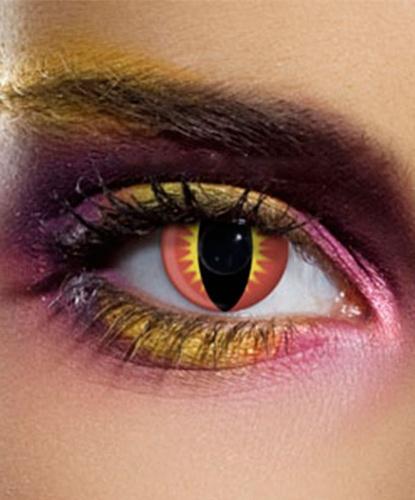 Линзы Драконий глаз, без диоптрий, срок ношения 90 дней (Великобритания)