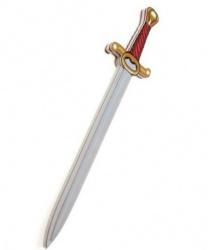 Рыцарский меч с бордовой рукоятью