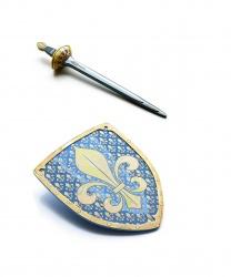 """Набор из щита и меча """"Геральдическая лилия"""""""