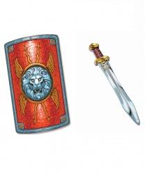 Римский щит и меч гладиатора