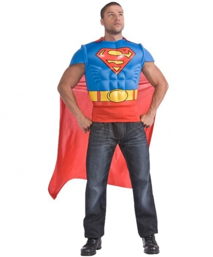 Футболка с мускулами и плащем Superman: футболка, накидка (Германия)