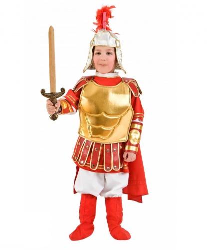 Детский костюм гладиатора: штаны, рубашка, плащ, шлем, накладки на обувь (Италия)