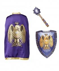 Рыцарский плащ, булава и щит