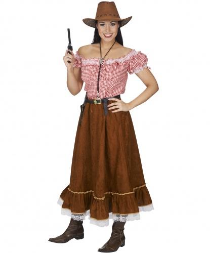 Костюм ковбойши с Запада: блузка, юбка (Германия)