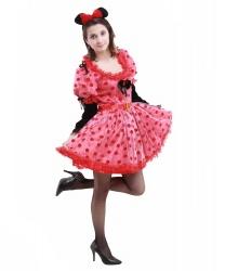 Костюм Минни-Мауса: ободок с ушами, платье (Италия)