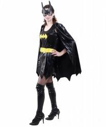 Костюм BatGirl: маска, накидка, накладка на сапоги, нарукавники, платье, пояс (Германия)