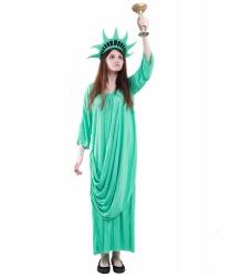 Костюм Статуя свободы: головной убор, платье (Германия)