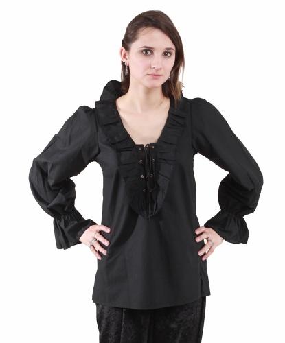 Черная пиратская рубашка женская: рубашка (Германия)