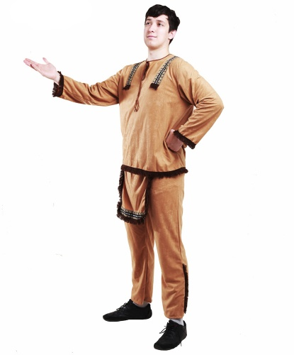 Костюм индейца (мужской): брюки,кофта (Германия)
