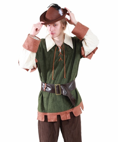 Костюм Робин Гуд: кофта, пояс, шляпа (Германия)