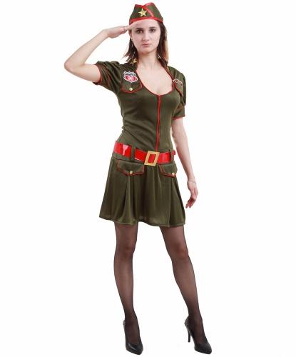 Женский военный костюм: платье, пилотка, пояс (Германия)