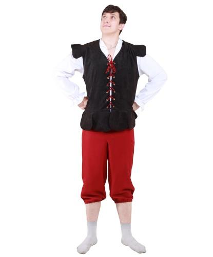 Мужской баварский костюм: рубашка, жилет, брюки, головной убор (Германия)