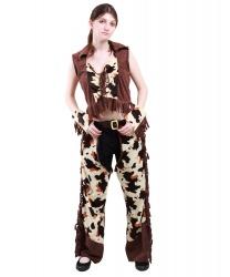 Женский ковбойский жилет и накладки на штаны: жилет, накладки на штаны, нарукавники (Германия)