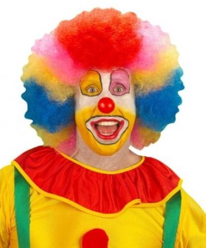 Разноцветный парик клоуна: разноцветный (Италия)