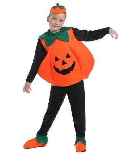 Детский костюм тыквы: Брюки, кофта, головной убор (Италия)
