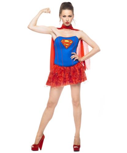 Костюм Супервумен: корсет, юбка, накидка (Германия)