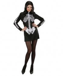 Платье с аппликацией Скелет