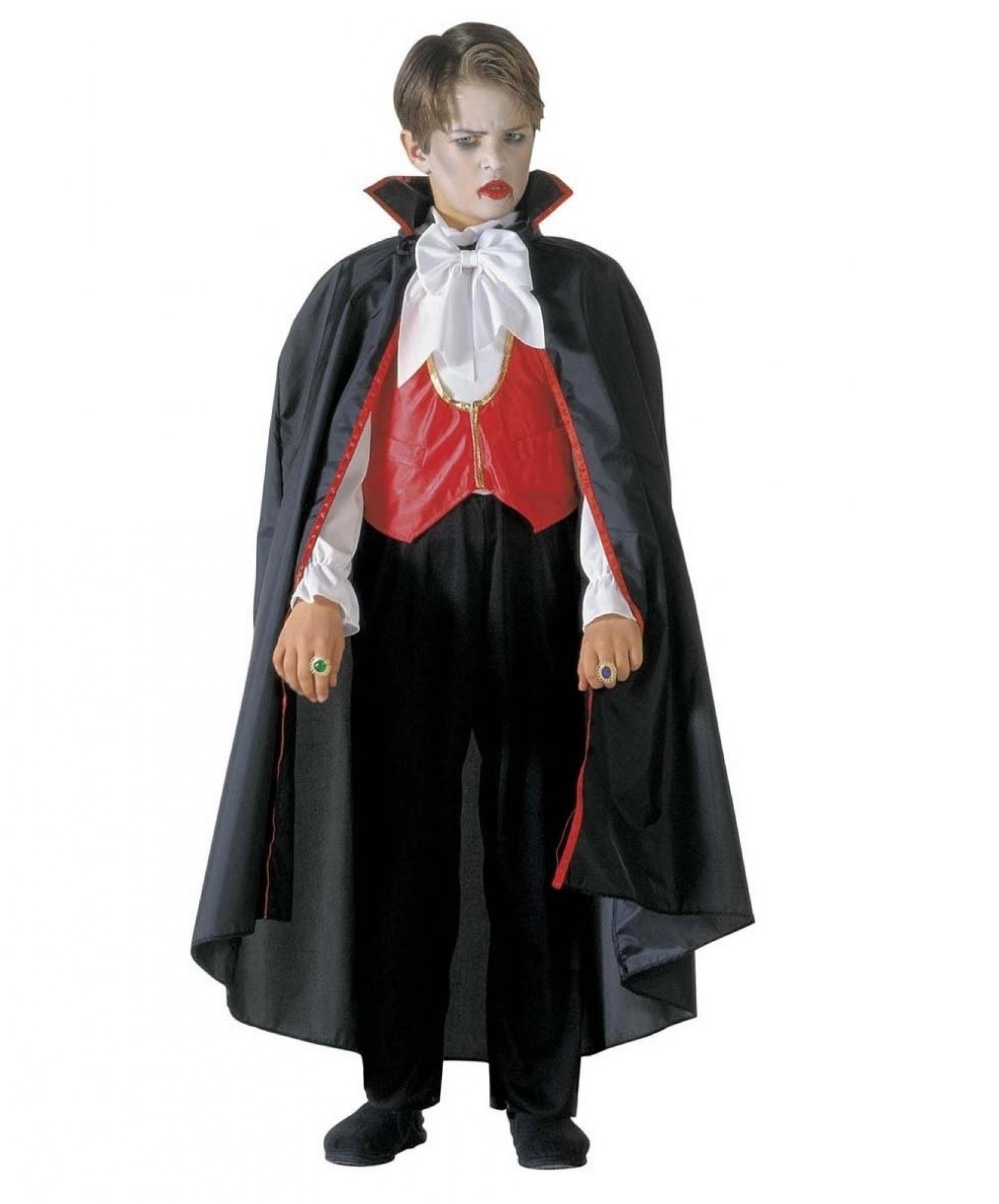 Костюм графа Дракулы: комбинезон с жилеткой, плащ (Италия) - photo#5