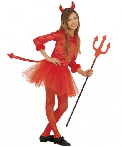 Детский костюм красной дьяволицы:  (Италия)
