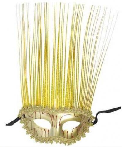 Золотая маскарадная маска, полиэстер, пластик (Италия)