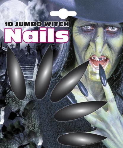 Накладные ногти ведьмы: 10 ногтей, клеющаяся бумажная основа (Италия)