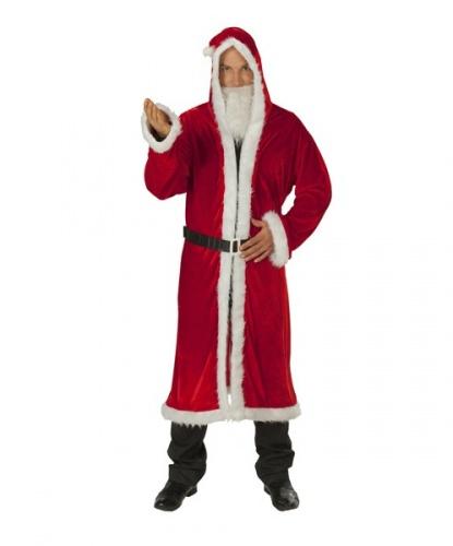 Красная шуба для Санта-Клауса: борода, капюшон, пояс, шуба (Германия)
