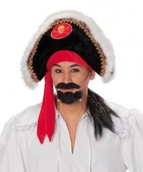 Пиратская шляпа с париком