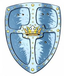 Рыцарский щит и меч с золотой короной - Другое, арт: 6237