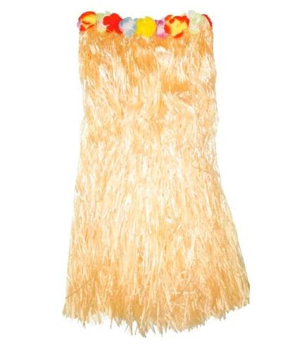 Желтая гавайская юбка (80см): (Германия)