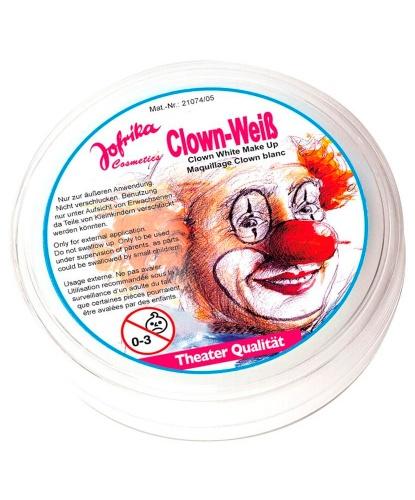 Масляный театральный грим белый, клоунский, шайба 25 гр (Германия)