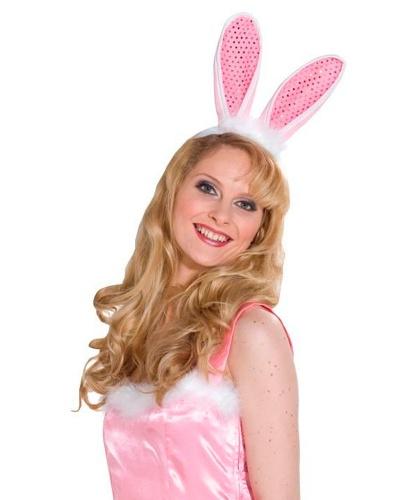 Купить уши зайца розовые (Германия) для костюма