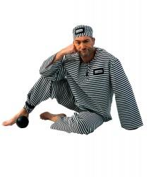 Костюм заключенного: головной убор, рубашка, штаны (Германия)