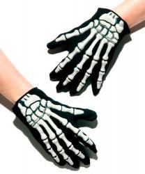 Перчатки скелета объемные