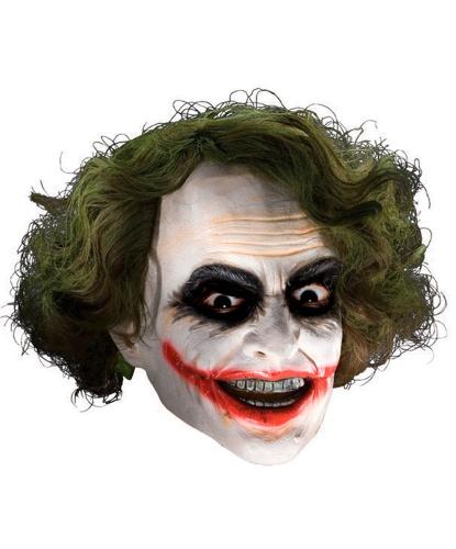 Маска Джокера, латекс, иск. волосы (Германия)