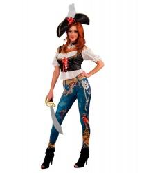 Пиратская леггинсы и сорочка