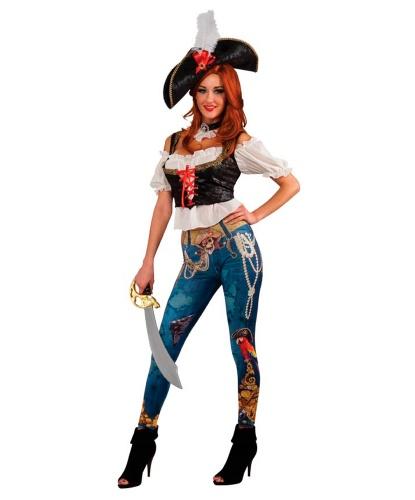Пиратская леггинсы и сорочка: леггинсы, рубашка с вшитой жилеткой, шляпа (Германия)