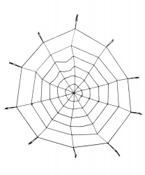 Паутина блестящая (125 см) от Bambolo