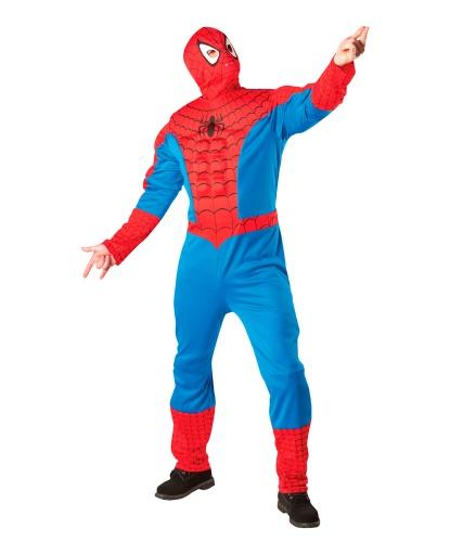 Взрослый костюм Человек-паук: кофта, штаны, маска (Германия)