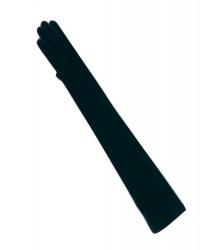 Длинные женские чёрные перчатки