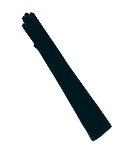 Длинные женские чёрные перчатки (Германия)