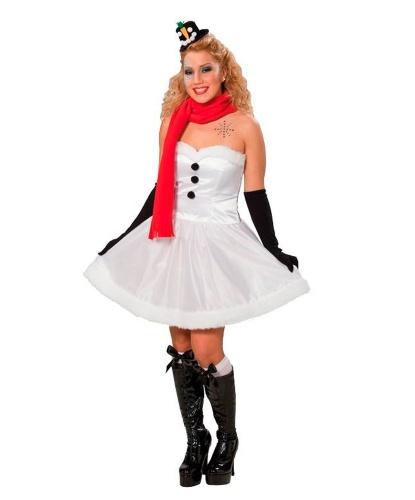 Костюм (платье) снеговика женский: платье, шарф (Германия)