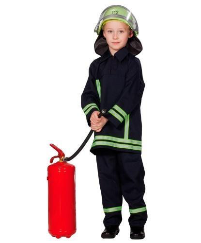 Детский синий костюм пожарного: брюки, кофта, шлем (Германия)