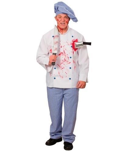 Костюм Кровавый повар: колпак, штаны, рубашка (Германия)