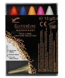 Набор из 5 цветных карандашей с блестками