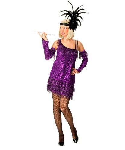 Платье Чарльстон фиолетовое: нарукавники, платье (Германия)