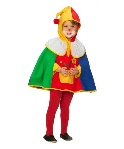 Костюм маленького клоуна: накидка с капюшоном и вырезом для рук (Германия)