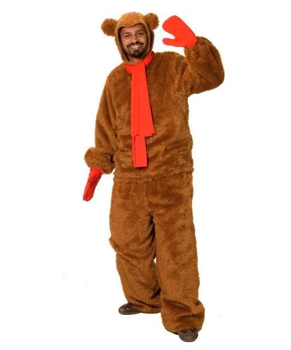 Костюм медведя (коричневый): варежки, капюшон, кофта, шарф, штаны (Германия)